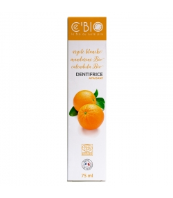 Dentifrice apaisant BIO argile, mandarine & calendula sans fluor - 75ml - Ce'BIO