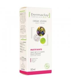 Crème légère jour matifiante & anti-imperfections BIO mélisse & argan - 50ml - Dermaclay