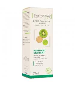 Gommage doux visage purifiant & unifiant BIO eau de kiwi & concombre - 75ml - Dermaclay