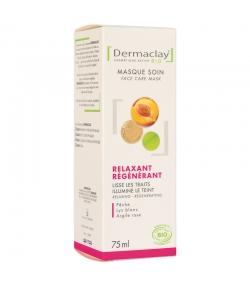 Masque express relaxant régénérant BIO nectar de pêche & lys blanc - 75ml - Dermaclay