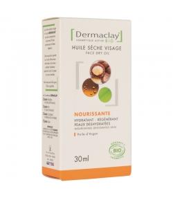 Huile sèche visage nourrissante BIO argan - 30ml - Dermaclay