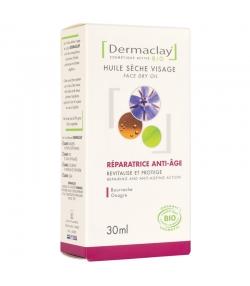 Huile sèche visage réparatrice & anti-âge BIO onagre & bourrache - 30ml - Dermaclay