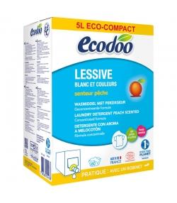 Lessive liquide écologique bag-in-box pêche BIO - 160 lavages - 5l - Ecodoo