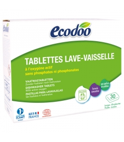 Ökologische Spülmaschinentabs – 30 Tabs – 600g – Ecodoo