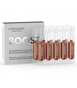 Booster ampoules énergie BIO - 10x3ml - Mádara Boost Antioxidant