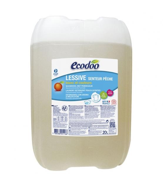 Ökologisches BIO-Flüssigwaschmittel Pfirsich - 600 Waschgänge - 20l - Ecodoo