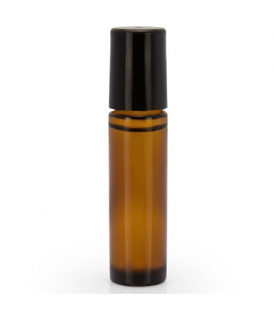 Bouteille en verre brun roll-on 10ml avec fermeture - 3 pièces - Farfalla
