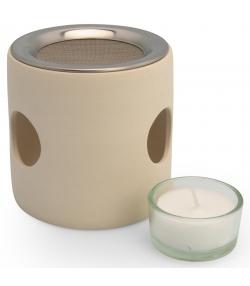 Cylindre beige pour brûler avec tamis - 1 pièce - Farfalla
