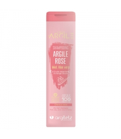 BIO-Shampoo rosa Tonerde, Honig, Aloe Vera & Orange - 200ml - Argiletz