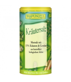 Sel aux herbes contenant 15% d'herbes et de légumes BIO - 125g - Rapunzel