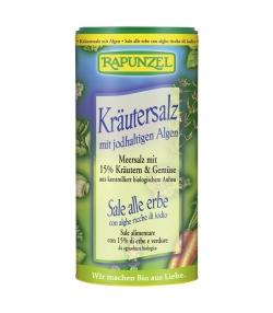 Sel aux herbes iodé contenant 15% d'herbes et de légumes BIO - 125g - Rapunzel