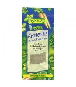 Sel aux herbes iodé contenant 15% d'herbes et de légumes BIO - 500g - Rapunzel
