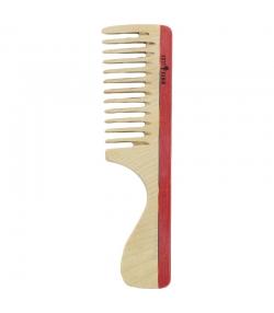 Peigne à manche en bois coloré denture large - 1 pièce - Kost Kamm