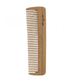 Peigne de poche en bois denture moyenne - 1 pièce - Kost Kamm