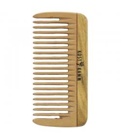 Mini-peigne de poche en bois denture moyenne - 1 pièce - Kost Kamm