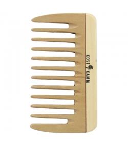 Mini-peigne de poche en bois denture large - 1 pièce - Kost Kamm