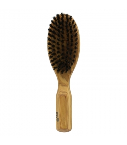 Brosse à cheveux ovale en olivier & poils de sanglier - 1 pièce - Kost Kamm
