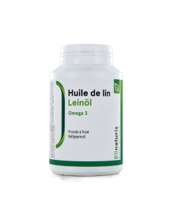 Huile de lin 500 mg 180 capsules - BIOnaturis