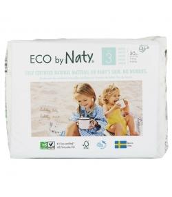 Couches & langes jetables écologiques Taille 3 Midi 4-9 kg - 1 sac de 30 pièces - Naty