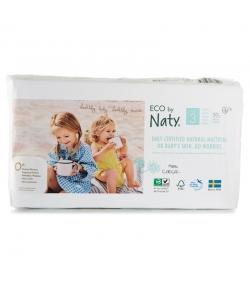 Couches & langes jetables écologiques Taille 3 Midi 4-9 kg - 1 sac de 50 pièces - Naty