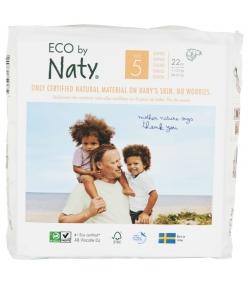 Couches & langes jetables écologiques Taille 5 Junior 11-25 kg - 1 sac de 22 pièces - Naty