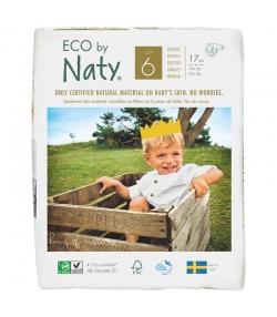 Couches & langes jetables écologiques Taille 6 XL 16+ kg - 1 sac de 17 pièces - Naty