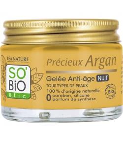 Gelée de nuit anti-âge BIO argan & acide hyaluronique - 50ml - SO'BiO étic