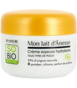 Crème soyeuse hydratante BIO lait d'ânesse - 50ml - SO'BiO étic