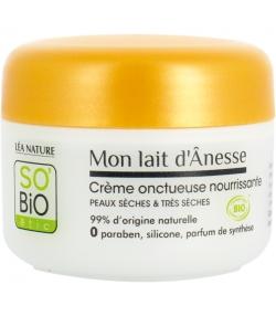 Crème onctueuse nourrissante BIO lait d'ânesse - 50ml - SO'BiO étic