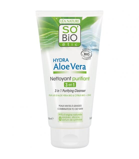 3-in-1 BIO-Reinigungsgel Aloe Vera & Citrus - 150ml - SO'BiO étic