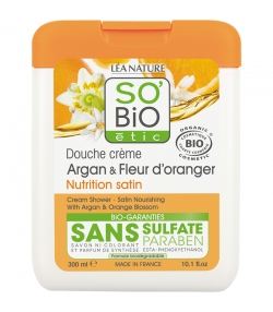 Douche crème BIO argan & fleur d'oranger - 300ml - SO'BiO étic