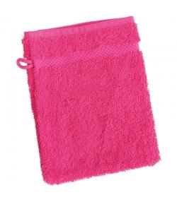Waschlappen aus BIO-Baumwolle himbeerfarben - 1 Stück - Anaé