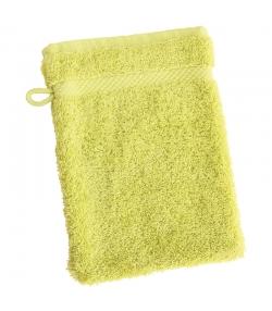 Gant de toilette en coton BIO Vert anis - 1 pièce - Anaé