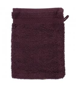 Waschlappen aus BIO-Baumwolle pflaumenfarben - 1 Stück - Anaé