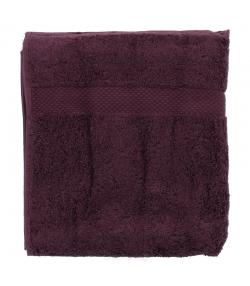 Serviette de toilette en coton BIO Prune - 1 pièce - Anaé