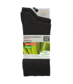 Bambus Socken dunkelbraun - Grösse 35-38 - 2 Paare - Mum Sox