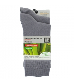 Chaussette bambou gris clair - taille 35-38 - 2 paires - Mum Sox
