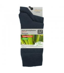 Bambus Socken anthrazit - Grösse 35-38 - 2 Paare - Mum Sox