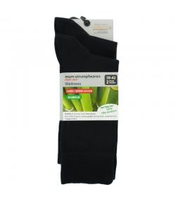 Bambus Socken schwarz - Grösse 39-42 - 2 Paare - Mum Sox