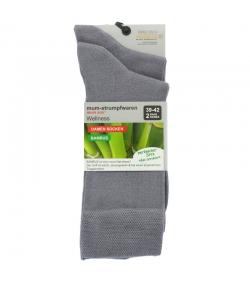 Chaussette bambou gris clair - taille 39-42 - 2 paires - Mum Sox