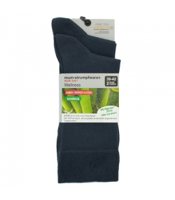 Chaussette bambou anthracite - taille 39-42 - 2 paires - Mum Sox