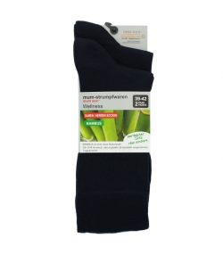 Bambus Socken marine blau - Grösse 39-42 - 2 Paare - Mum Sox