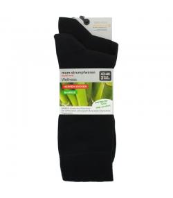 Bambus Socken schwarz - Grösse 43-46 - 2 Paare - Mum Sox
