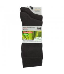 Bambus Socken dunkelbraun - Grösse 43-46 - 2 Paare - Mum Sox