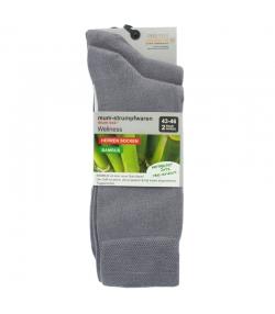 Bambus Socken hellgrau - Grösse 43-46 - 2 Paare - Mum Sox