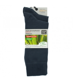 Chaussette bambou anthracite - taille 43-46 - 2 paires - Mum Sox