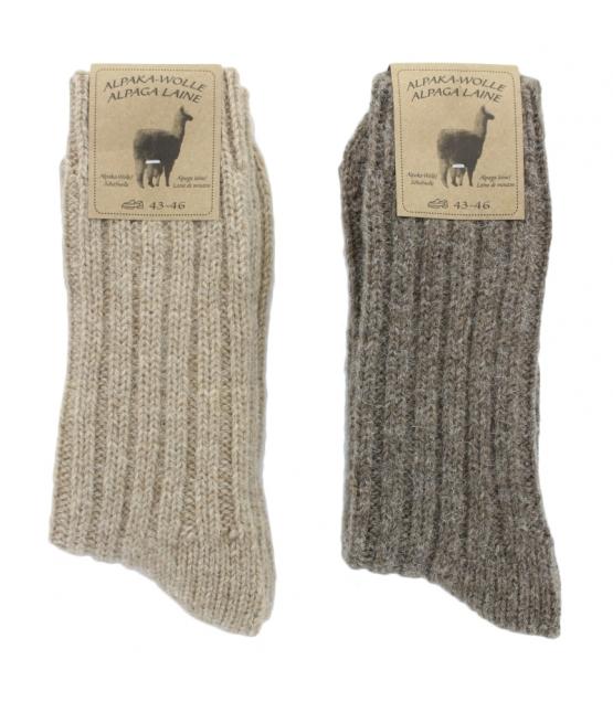 Alpaka Socken Dick Hellbraun/Dunkelbraun - Grösse 43-46 - 2 Paare - Mum Sox