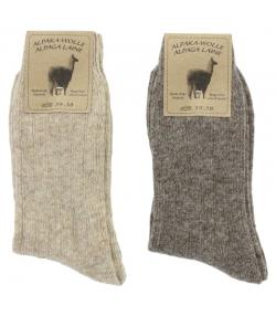 Chaussette alpaga fine brun clair/brun foncé - taille 35-38 - 2 paires - Mum Sox
