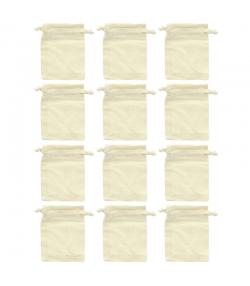 12 Baumwollsäcke