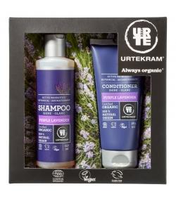 BIO-Geschenk-Set Lila Lavendel Haar - Urtekram